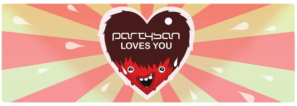 "Invitation ""Partysan loves you"""